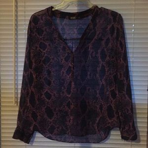 Purple and Navy Blouse